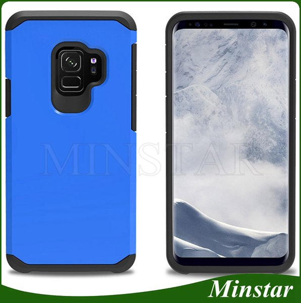 For Samsung Galaxy S9 Plus Note 10 Pro 9 S8 Plus Active S7 Edge S6 High Quality Rugged Slim Armor Phone Case Tough Shockproof Hybrid Cover