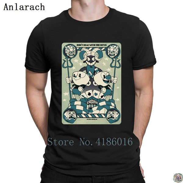 Cuphead Playing Card t-shirt hip hop cotton Designs Clothes tshirt for men Funny Casual Letter summer Anlarach great