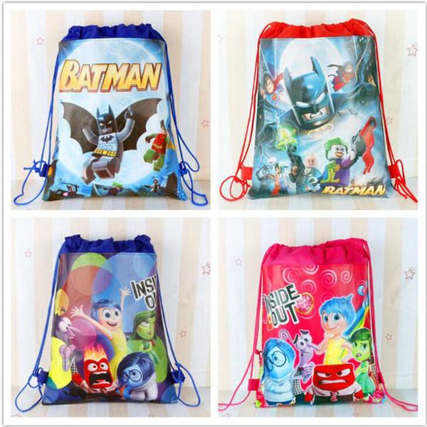 Vente chaude sac à dos cerveau cerveau comment former votre dragon non-tissé cordon sac poche poches enfants sacs d'école meilleur cadeau