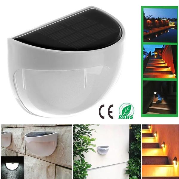 Luzes solares Alimentado 6 LED Cerca Luz Auto ON / OFF painel solar para luzes ao ar livre solar Gutter Jardim Ao Ar Livre Quintal Lâmpada Do Telhado