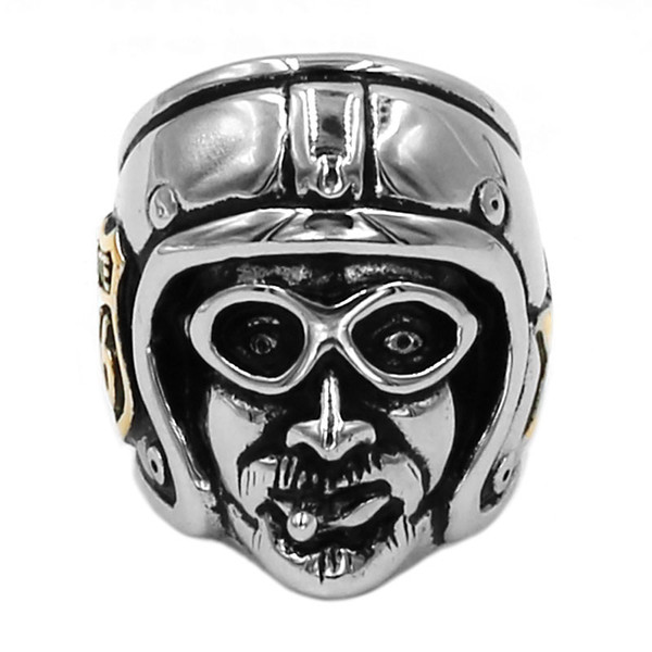 Free shipping! Gold Route 66 MC Club Biker Ring Stainless Steel Jewelry Classic Ride Motorcycle Man Motor Biker Men Ring Wholesale 767B