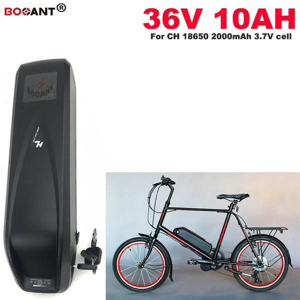 E-Bicicleta Bateria De Lítio 36 V 10Ah + USB 36 V Bicicleta Elétrica Da Bateria Para Bafang / 8fun 250 W 450 W 600 W Motor + 2A Carregador Livre grátis