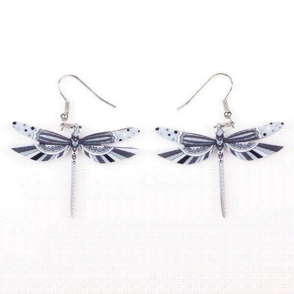 Fashion Dangle Dragonfly Earrings Acrylic Long Drop Earring New Arrival 2015 Spring Summer Style For Girls Women Jewelry
