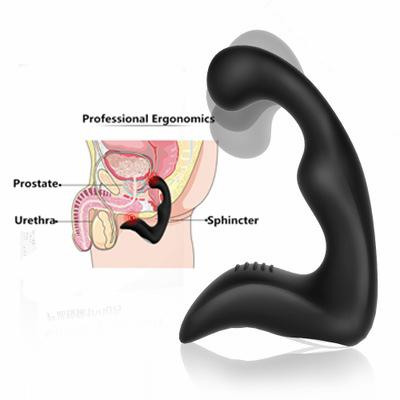 Silicone Anal Plug USB Charging Prostate Massager Vibrating Sex Toys For Men Superior Butt Plug Vibrator Masturbator