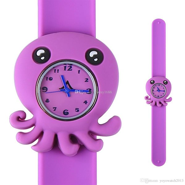 Models Ocean Animal Series Slap Watch Cute Animal Cartoon Slap Snap Watch Silicone Wrist Watches for Children Gift 500pcs/Lot