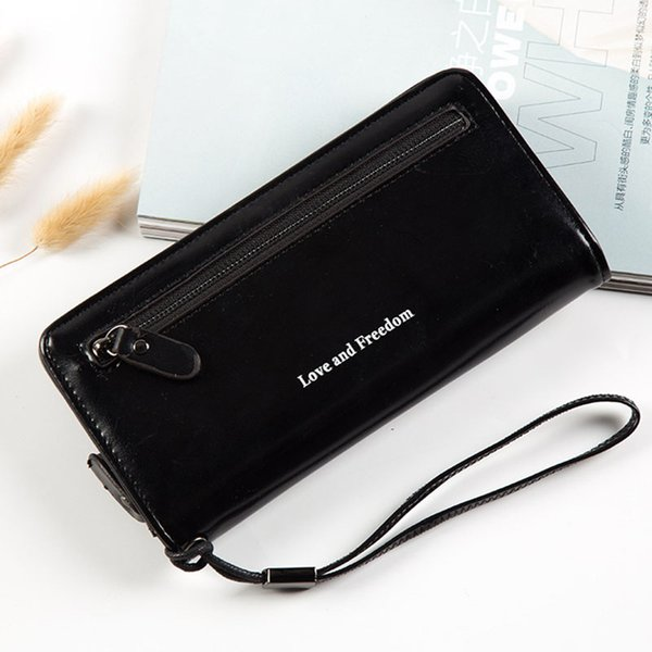 Brand Designer Wristband Wallets Elegant Women Many Card Bit Wallet Female Long Large Card Purse Ladies Phone Pocket Women's Bag