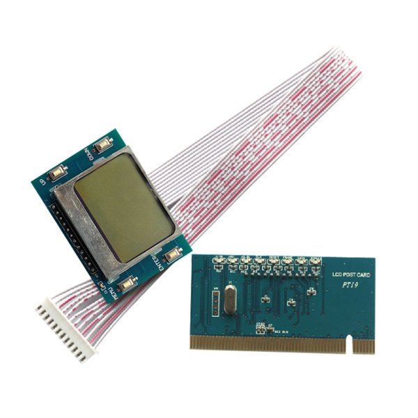 The English and simplified Chinese computer Test card PC PCI LCD Diagnostic Post Debug Test Card For Desktop Motherboard PTI9