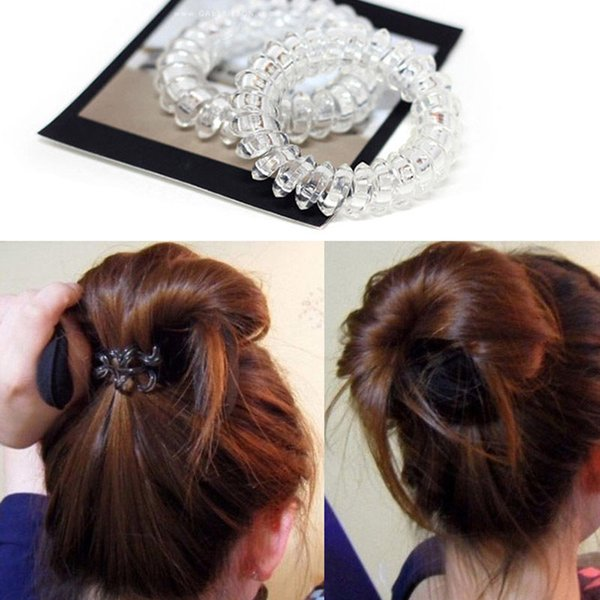 5 Pcs Lot Women Ladies Girls New Clear Elastic Girl Rubber Telephone Wire  Style Hair 63723d399a0
