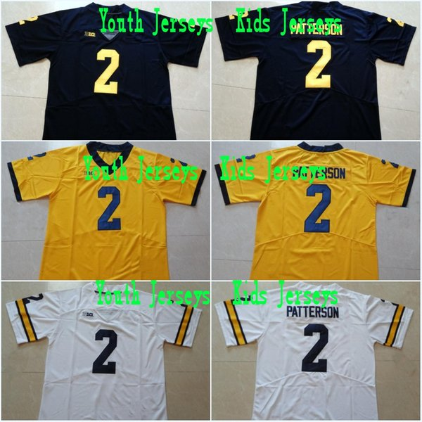newest collection 9d1a0 060aa 2019 Youth #2 Shea Patterson Kids #10 Tom Brady #4 Jim Harbaugh #5 Jabrill  Peppers #2 Charles Woodson #21 Desmond Howard College Stitched Jerseys From  ...