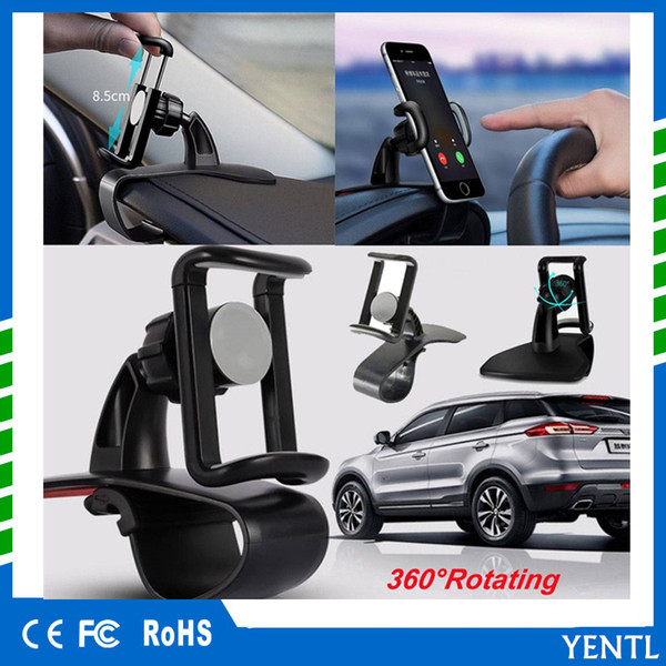 free shipping YENTL Universal 360 degree Rotation Car HUD Dashboard Mount Holder Stand For Smartphone GPS Dashboard Adjustable Mount Car