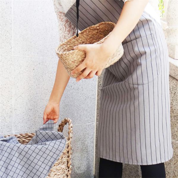 70 * 75 cm de alta qualidade Algodão Retro Cozinha Avental Mulher Flirty Aqua Damasco Ruffled Chef Floral Aventais de Cozinha Frete grátis