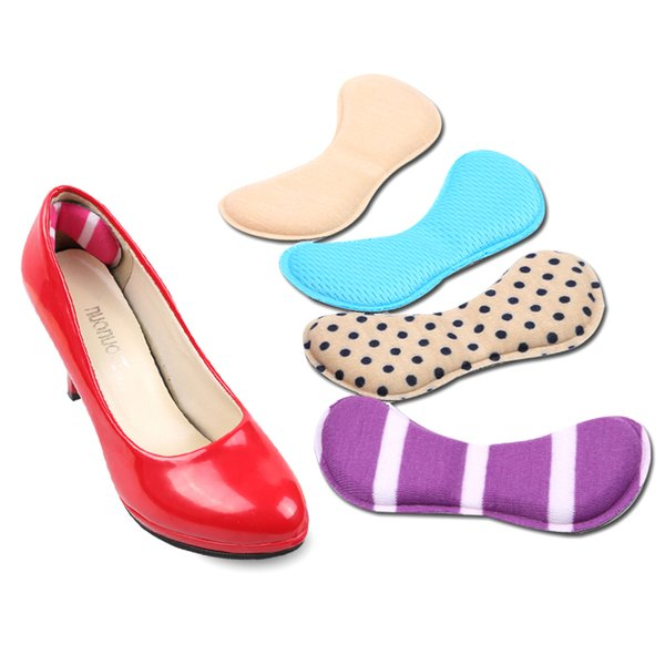 Frauen Schuhe Ferse Aufkleber Einlegesohle Füße halben Hof Pad Dame High Heels Aufkleber Verdickung Schwamm Ferse Pads hübsche Schmetterling Typ Schleifen