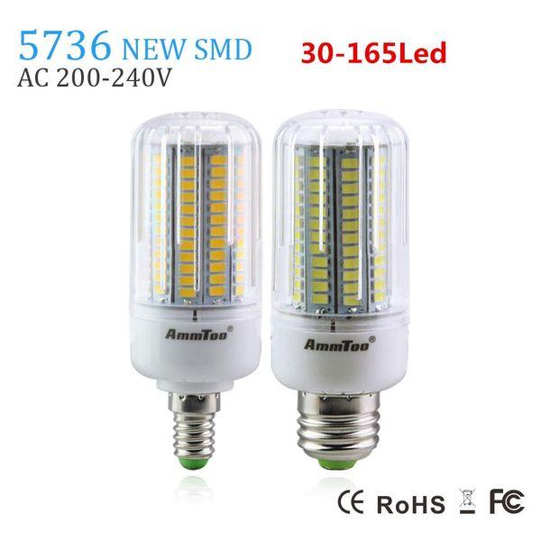 SMD 5736 Chip E27 führte Lampenlicht 3W 5W 7W 9W 12W 15W E14 führte Birne 220v Lampada geführtes Kerzenlicht heller als 5733 5730 für Haus