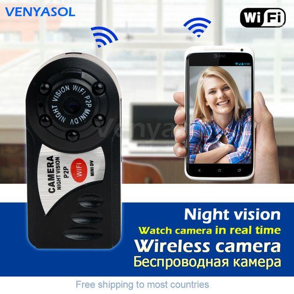 Sans fil WiFiMini Micro caméra portable Night Vision caméscope DV Cam Pocket IP Enregistreur réseau Espia