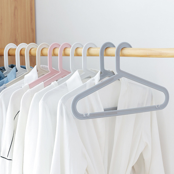 Plastic Non-slip Hanger / Dry Wet Clothes Hangers(20 Pcs) 2 Size For Adult And Child 5 Color Select