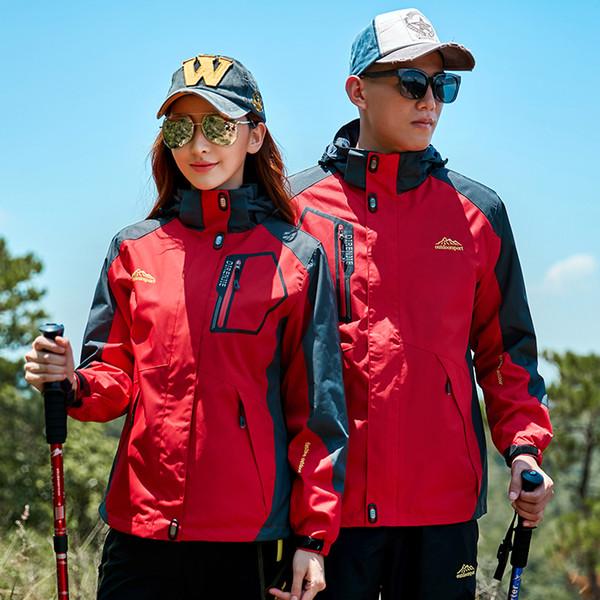 New Men women Couples Softshell Jackets Outdoor Sports fishing Camping Trekking Climbing Waterproof Windproof Coat clothes 62