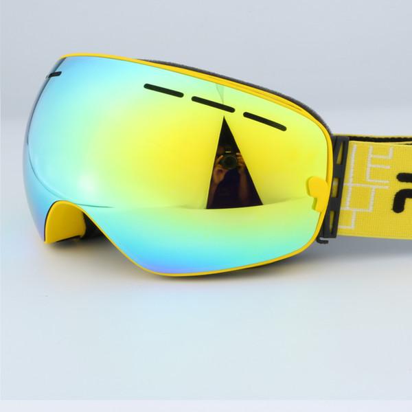 Double couches UV lentilles anti-buée lunettes de ski grand ski sphérique snowboard hommes patinage lunettes de neige lunettes pour hommes femmes