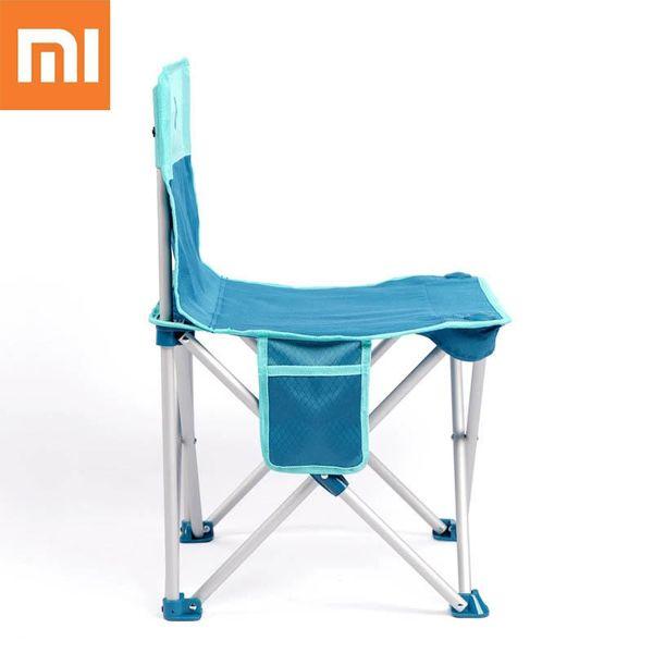 Xiaomi Folding Chair Portable Camping BBQ Beach Stool Ultralight Aluminum Alloy Chair Max Load 200kg original