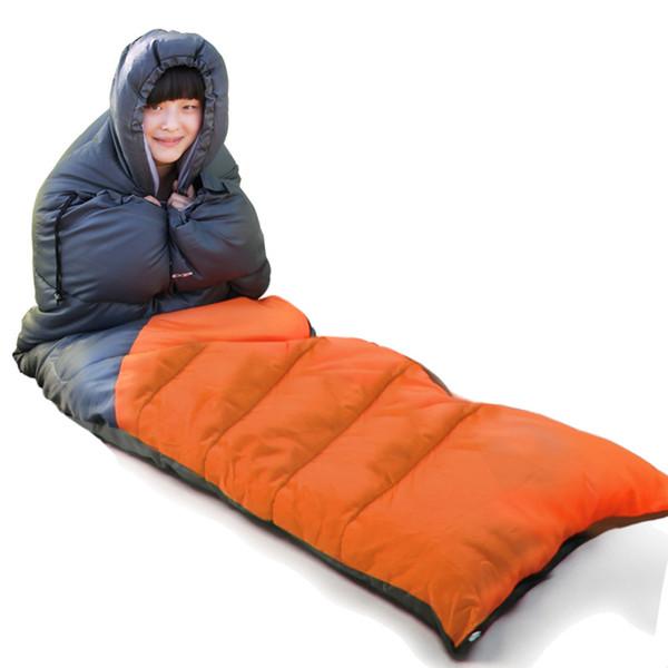 Flytop spring autumn outdoor adult sleeping bag waterproof lengthen compression Cotton sleeping bags Envelope type