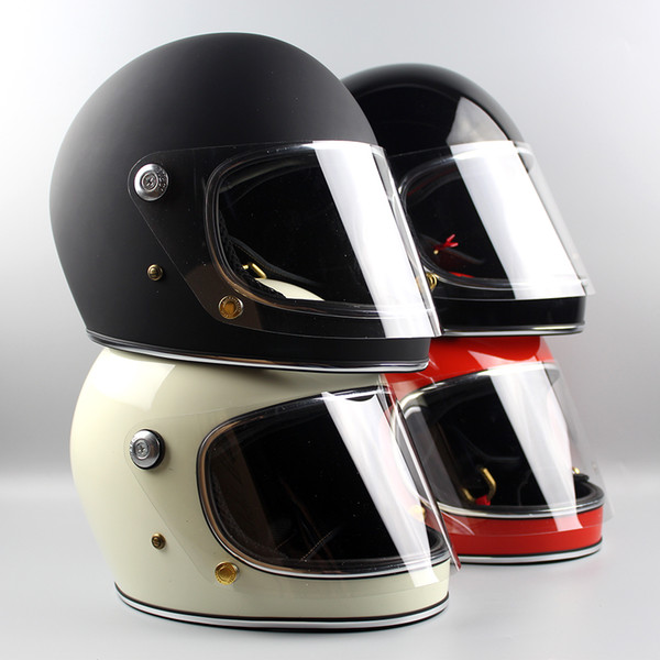 top popular Motorcycle Helmet &CO Thompson Ghost Rider racing shiny vintage helmets full face helmet with visor capacete casco moto 2021