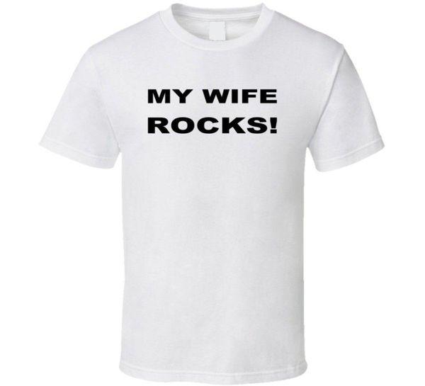 Eşim Kayalar Aşk Evlilik T Gömlek Pamuk Casual Gömlek Beyaz Üst