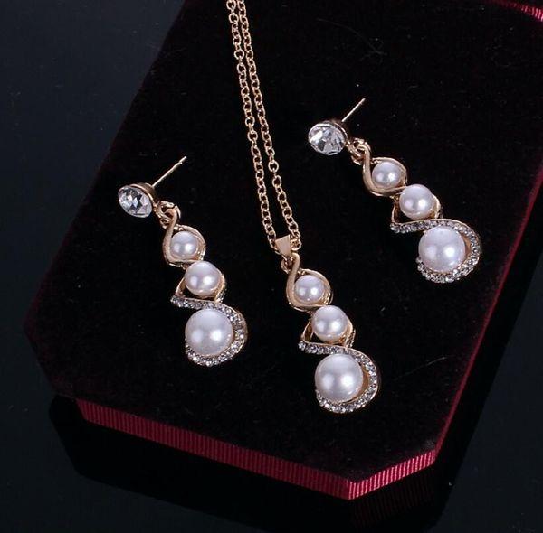2018 Estados Unidos Oito palavras pérola cabaça colar terno diamante Colar de Jóias Menina + Frete grátis