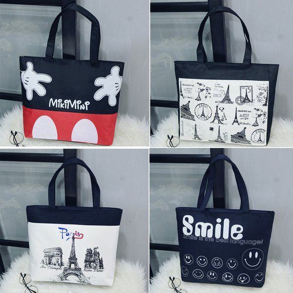 Factory direct sales of new art girls single shoulder canvas bag new minimalist portable shopping bag mommy bag