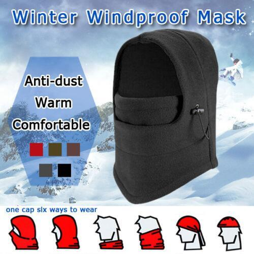 Brand New Thermal Hood Outdoor Cycling Ski Winter Windproof Full Face Mask Hat Eight Colors Drop Shipping