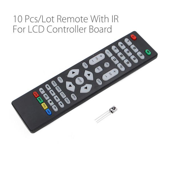 10Pcs / lot Universalfernbedienung mit IR-Empfänger für unsere LCD-Fahrer Steuerkarte für V59 V56 3463A SKR.03 8503.03 Wholesale