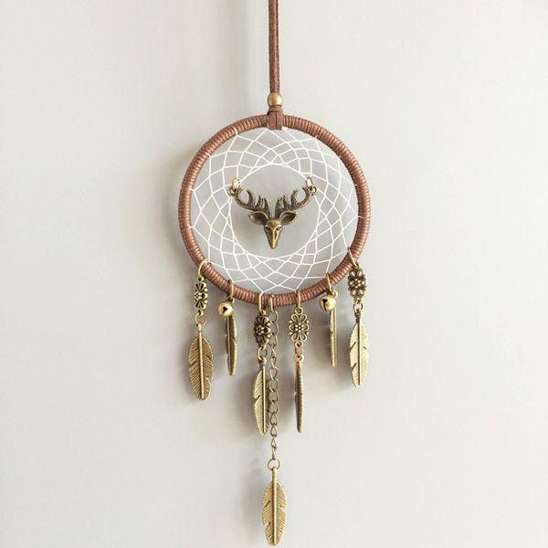 Auto Anhänger Vintage Indischen Stil manuelle dreamcatcher Net Ornament Handgemachte windspiel Wandbehang dekoration Handwerk Geschenk 16cp bb