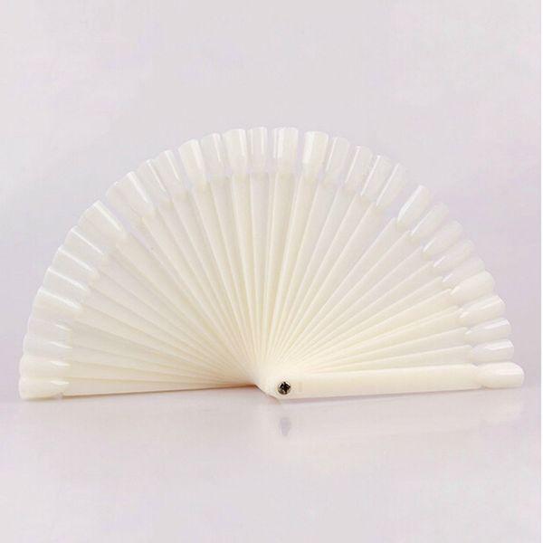 50Pcs/Set Practical Fan Nail Polish Display Art DIY Gel Color Palette Nails Color Card Manicure Decorations Fan Foldable Display