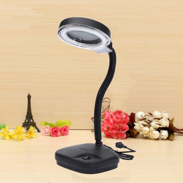 Desk Light LED Magnifying Lens Glass Book Night Light Magnifier Desk Table Lamp for Students Officers Watch Worker