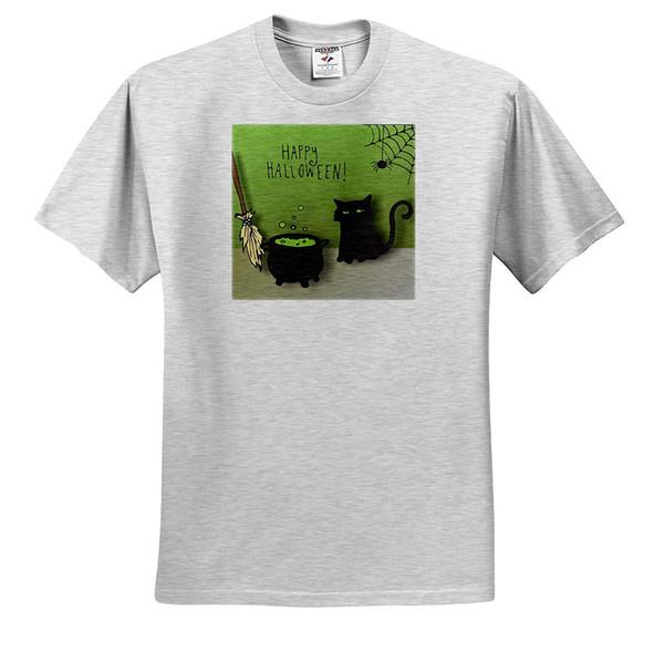 Funny Tnmgraphics Halloween - Kitten Cauldron And Broom Halloween T-shirt 2018 Summer Men's Brand Clothing O - Neck