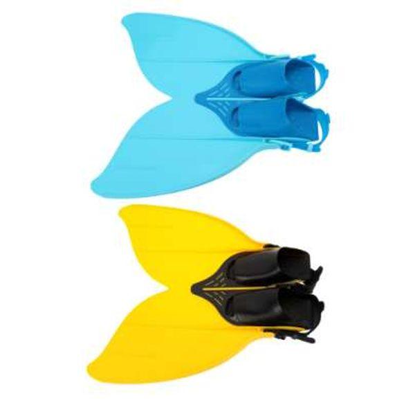 Teen Teenager Professional Scuba Diving Fins Mermaid Swim Fin Diving Monofin Swimming Foot Flipper Snorkeling Shoes Equipment