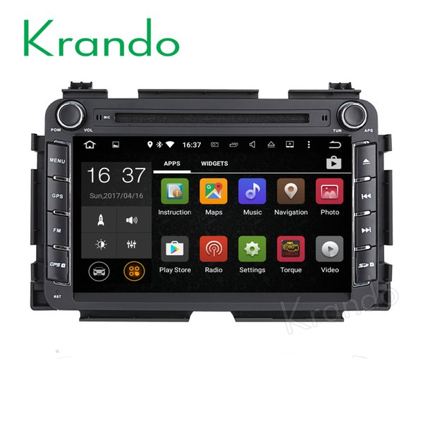 "Krando 8"" Android 7.1 car dvd GPS navigation system for Honda Vezel HRV 2013+ audio radio multimedia palyer WIFI 3G DAB+"