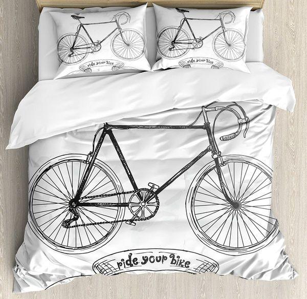 Großhandel Fahrrad Bettbezug Set Ride Your Bike Schriftzug Mit