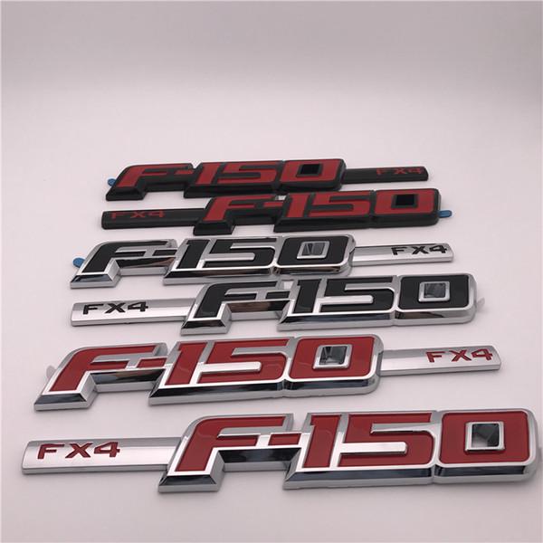 Custom ABS plastic FX4 F-150 Black , Bright red, Deep red Car Emblems badge Sticker logo 2PCS/Pair
