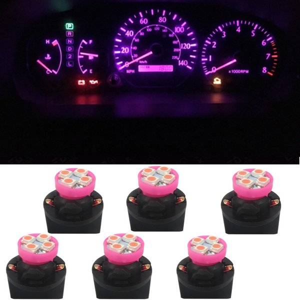 Pink Interior Light Bulbs Promo Codes   WLJH 7color T10 4SMD 194 W5W LED Interior  Lights