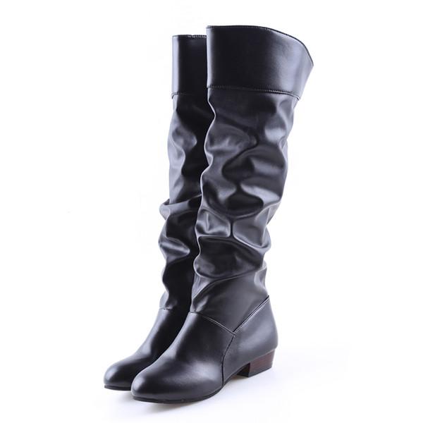 De Bottes En Noir Genou Stretch Roma Bigsweety Chaussures Au Cuir Blanc Femmes Femme Acheter Noir Botas Bottes Mode Printemps Longueur De PU Femme kPXuTOZi