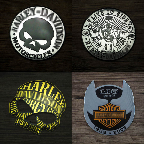 best selling Motorcycle 3D Metal Sticker 9 cm LIVE TO RIDE Skull Head Cool Car Emblem Auto Funny styling Badge Decal