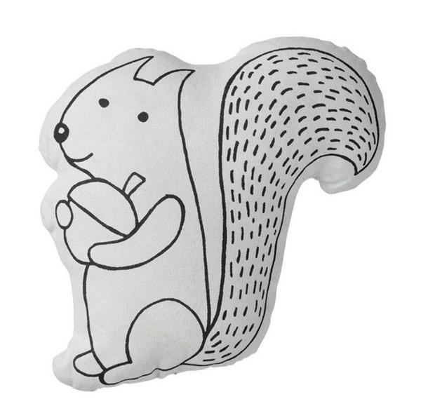 Cuscino scoiattolo baby boy ragazza camere cuscini bambini cuscini letto infantile travesseiro almofada bambino oreiller bebes regalo per bambini