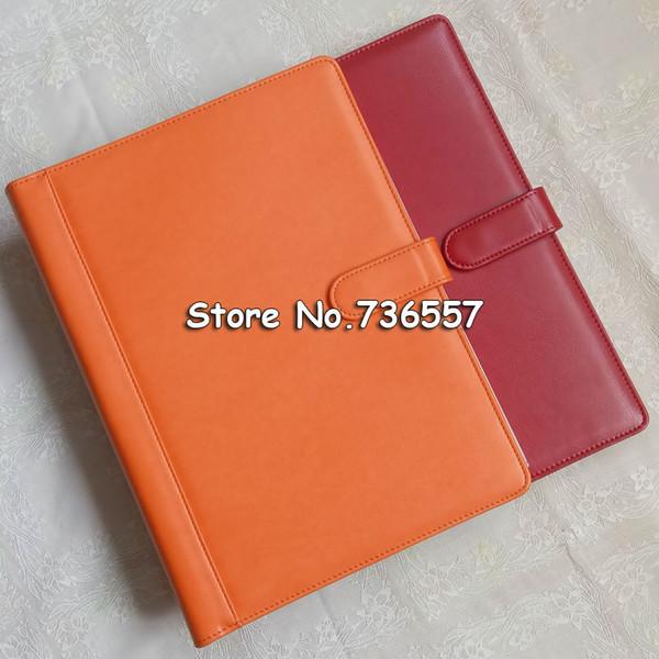 Großhandel Kostenloser Versand Pu Leder Ordner Padfolio Multifunktions Organizer Planer Notebook Ring Binder A4 Datei Ordner Bürobedarf Von Cczone