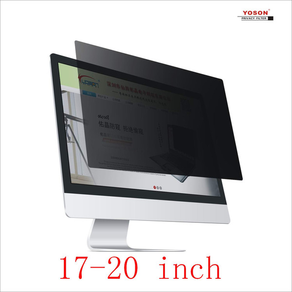 top popular YOSON 17 17.3 18 18.5 19 19.45 19.5 20 inch computer screen Privacy Filter anti peep film   anti reflection film   anti spy film 2019