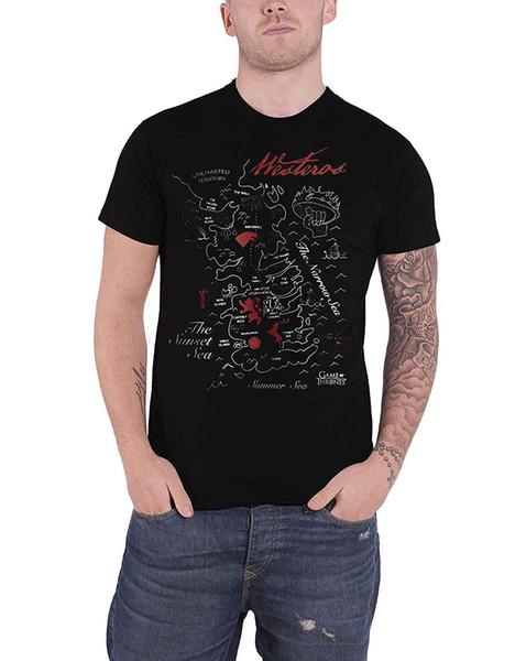Game of Thrones Shirt Westros Karte Keyline Haus Sigils Offizielles T-Shirt Fashiont Shirt Kostenloser Versand top tee