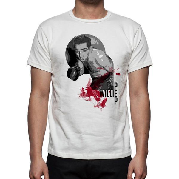 Hommes Boxe Willie Pep Tribute T-Shirt M87 Hommes 2018 Marque de mode T Shirt O-Neck 100% coton T-Shirt