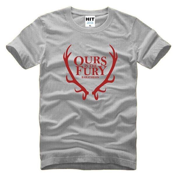 2018 new fashion House Baratheon Game Thrones Fury PrintT Shirt Cotton Mens Men Cool T-shirt Tshirt