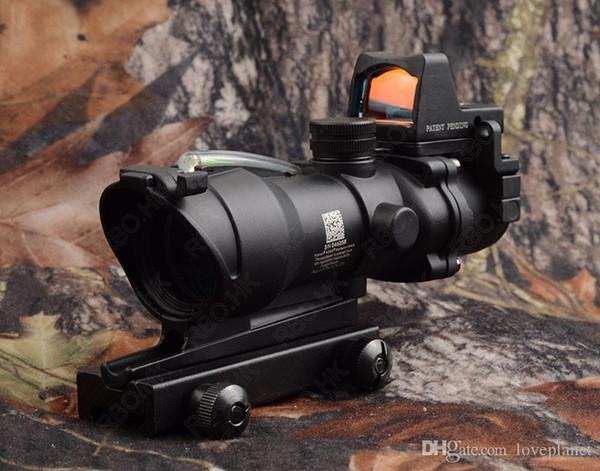 856032e522 Tactique trijicon acog style 4x32 optique vert fibre fusil lunette et point  rouge vue portée chasse