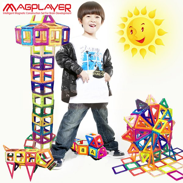 Magplayer 92pcs Magnetic Blocks Mini 3D Magnetic Model Blocks Magnet Building Blocks Enlighten Educational Toys For Children