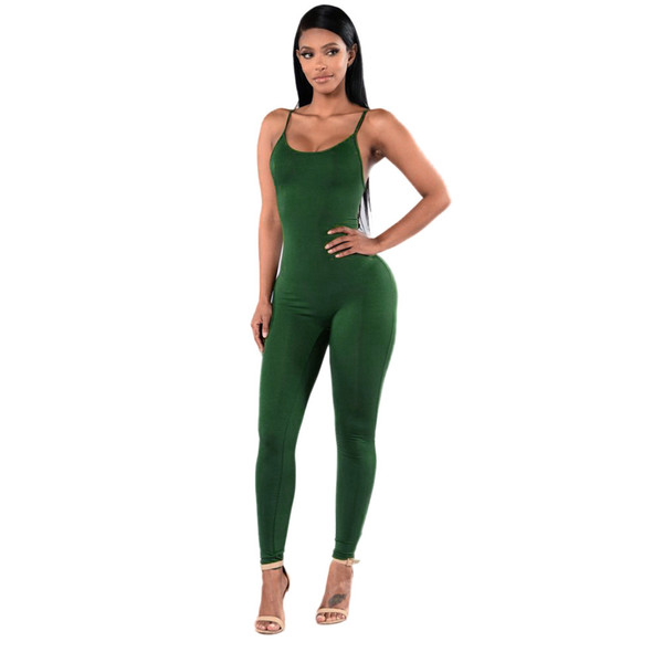 New Summer Women Tute Solid Casual Senza Maniche Bodycon Pagliaccetti Tuta Nero Bianco Donna Club Wear Slim Tuta S-XL