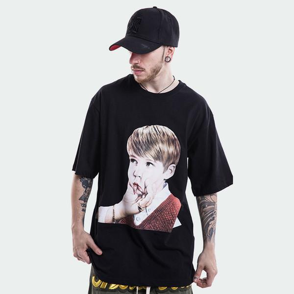 Acme de la vie ADLV Baby Face T-shirt 2018 Summer Funny Tees Black White 100% Cotton Top Justin Bieber Street Wear TXH0326
